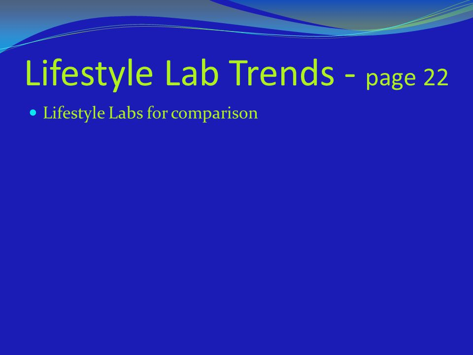 Lifestyle Lab Trends - page 22