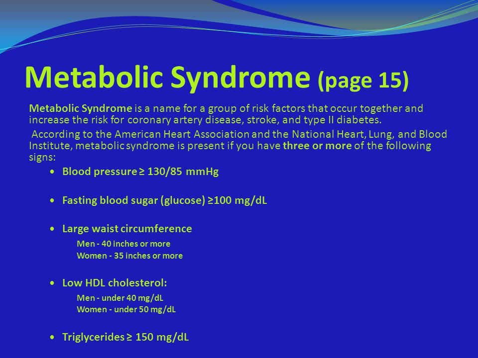Metabolic Syndrome (page 15)