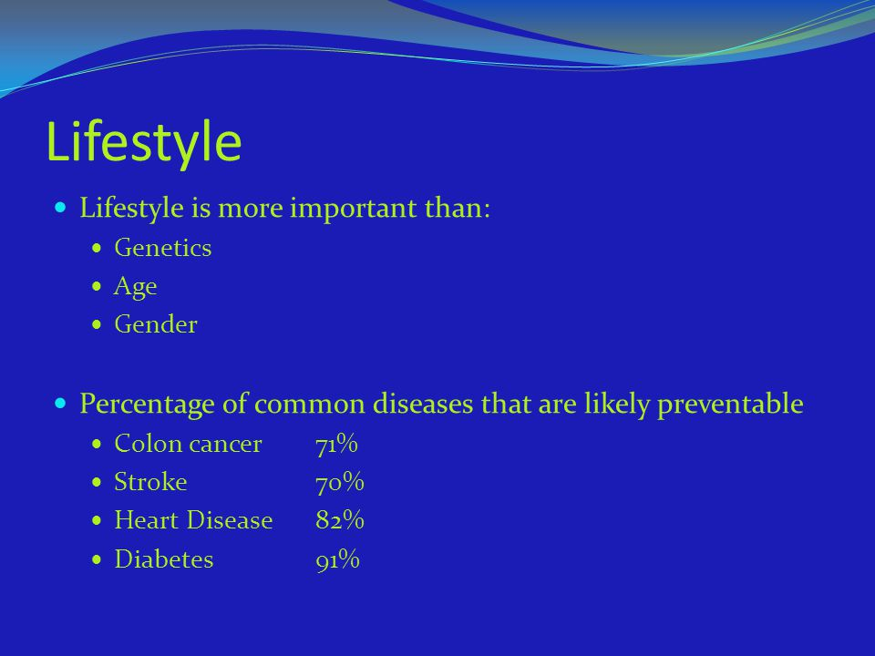 Lifestyle Lifestyle is more important than: