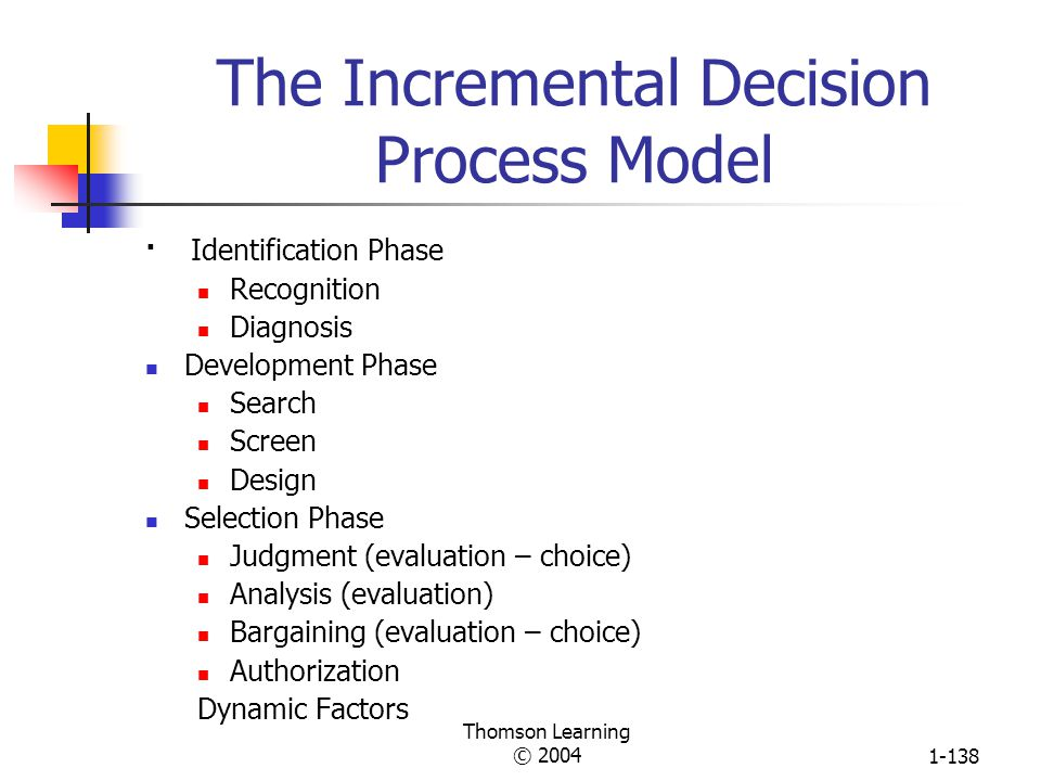 The Incremental Decision Process Model