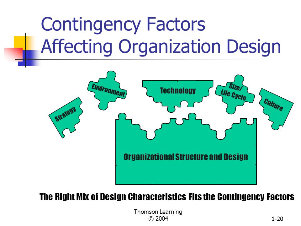 Contingency Factors Affecting Organization Design