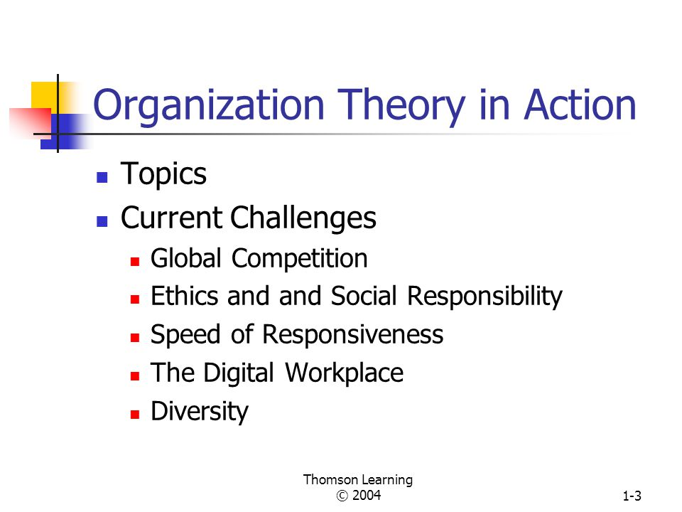 Organization Theory in Action
