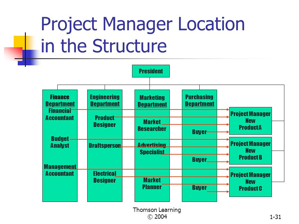 Project Manager Location in the Structure