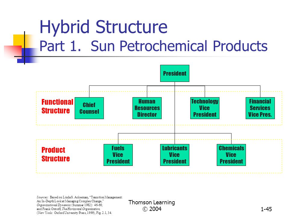 Hybrid Structure Part 1. Sun Petrochemical Products