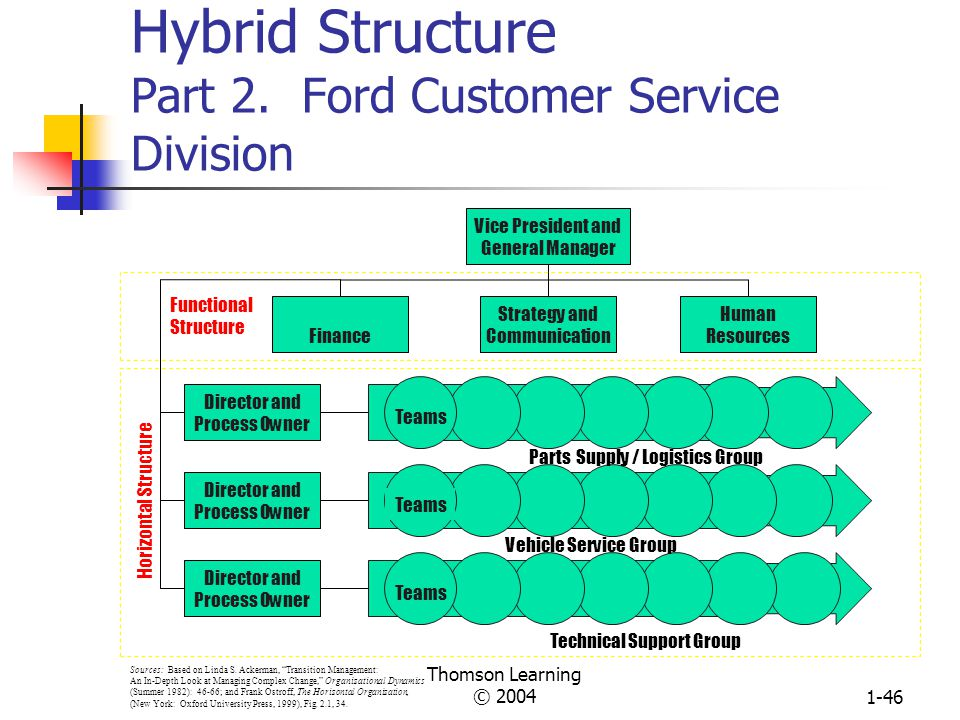 Hybrid Structure Part 2. Ford Customer Service Division