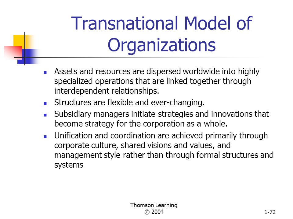Transnational Model of Organizations