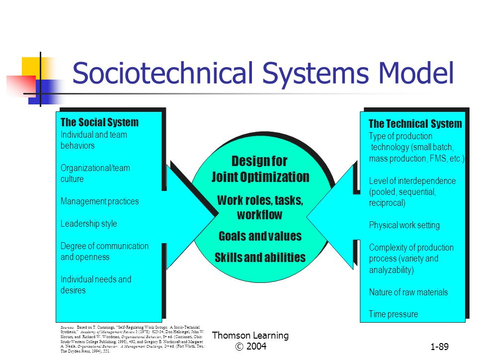 Sociotechnical Systems Model