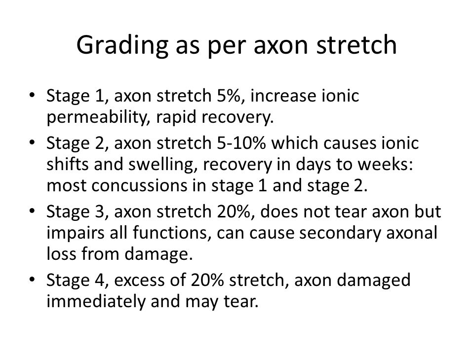 Grading as per axon stretch