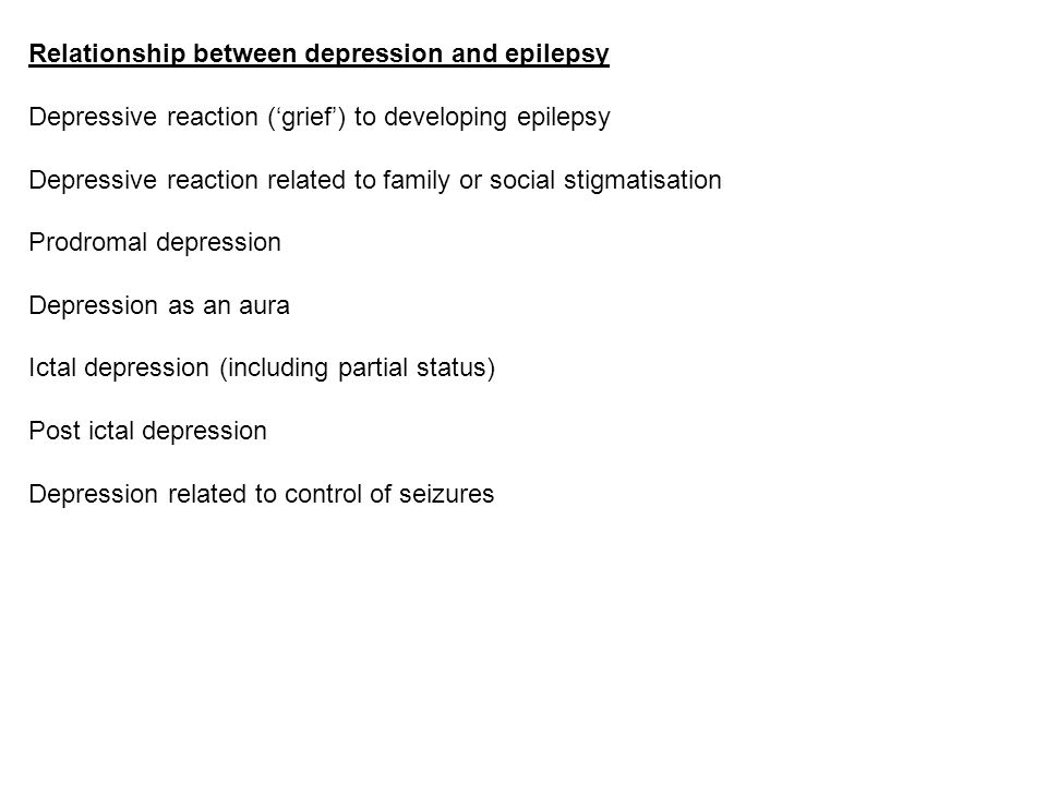 Relationship between depression and epilepsy