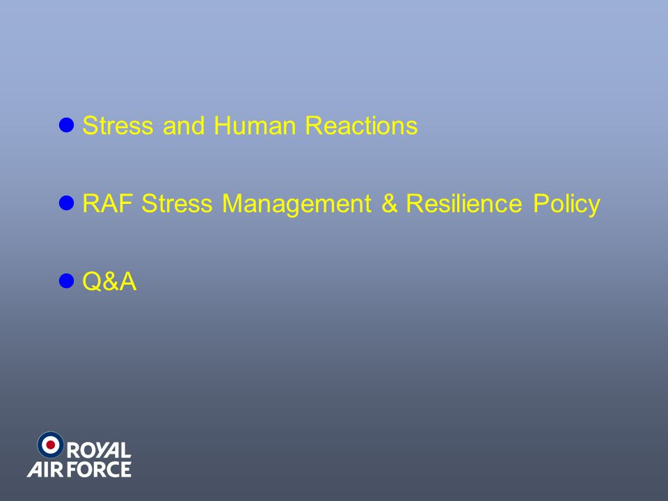 Stress and Human Reactions
