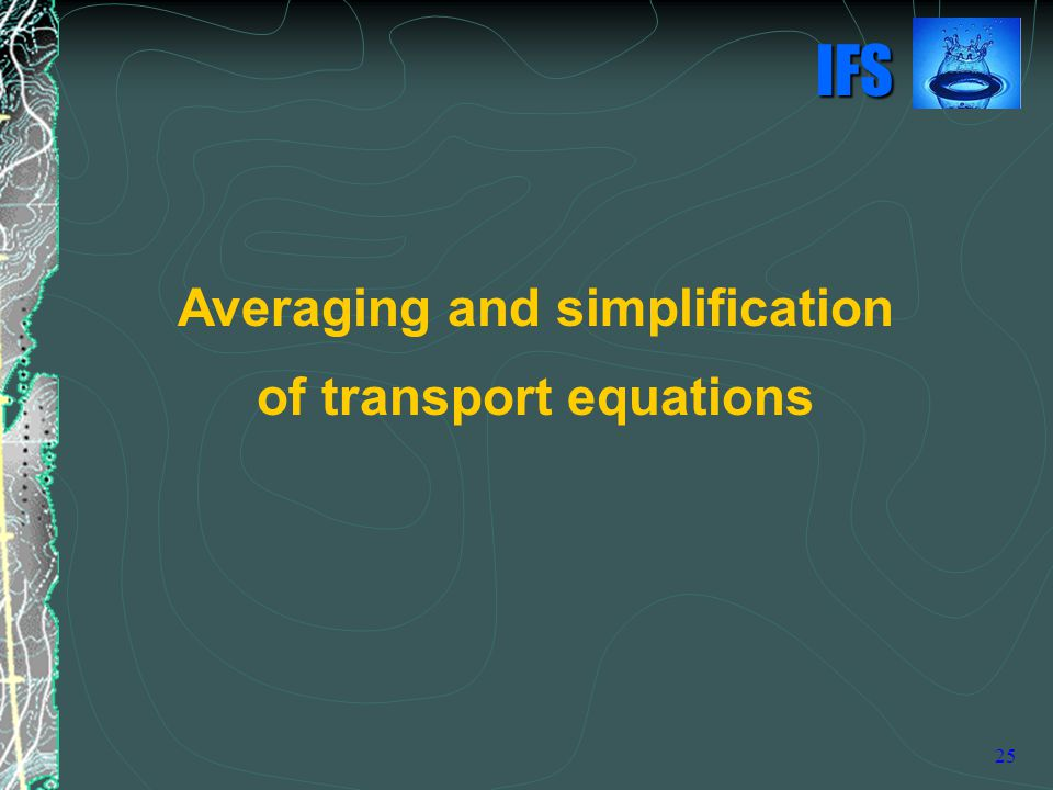 Averaging and simplification of transport equations