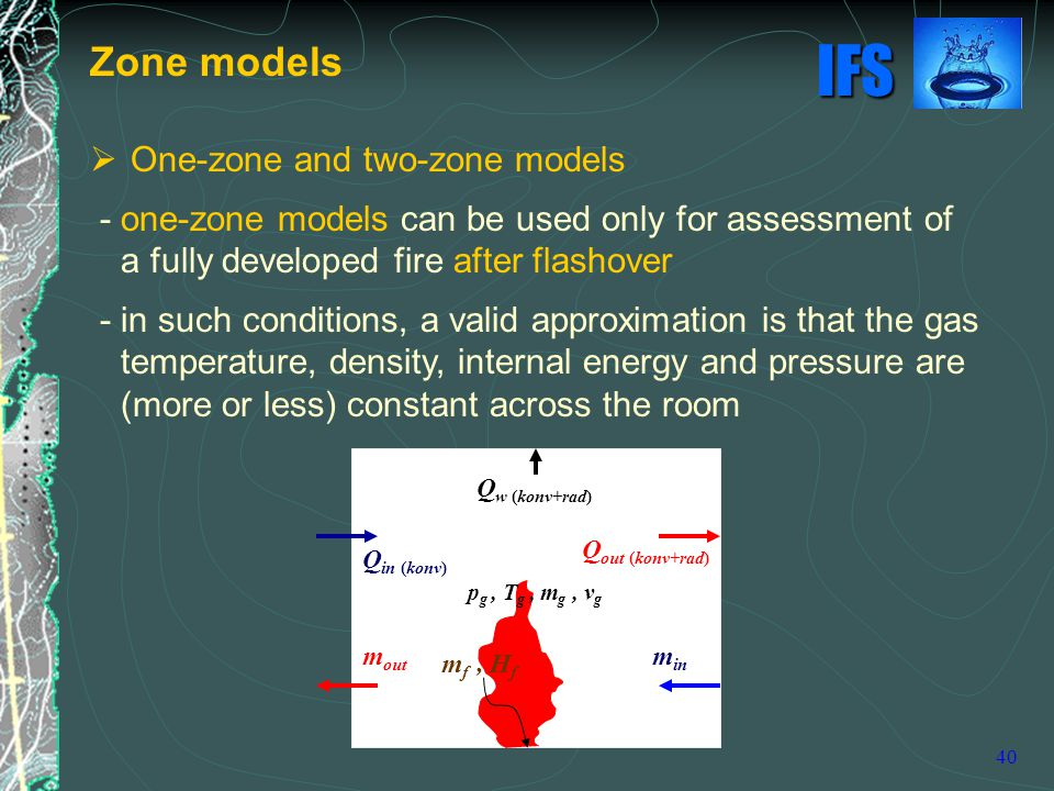 Zone models One-zone and two-zone models