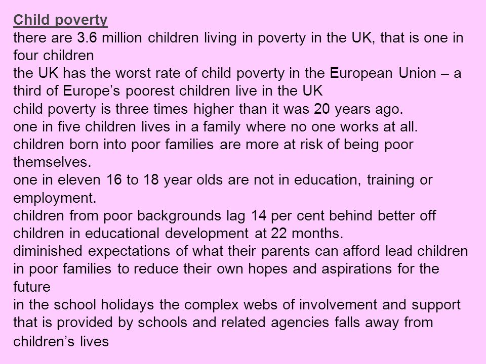 Child poverty there are 3