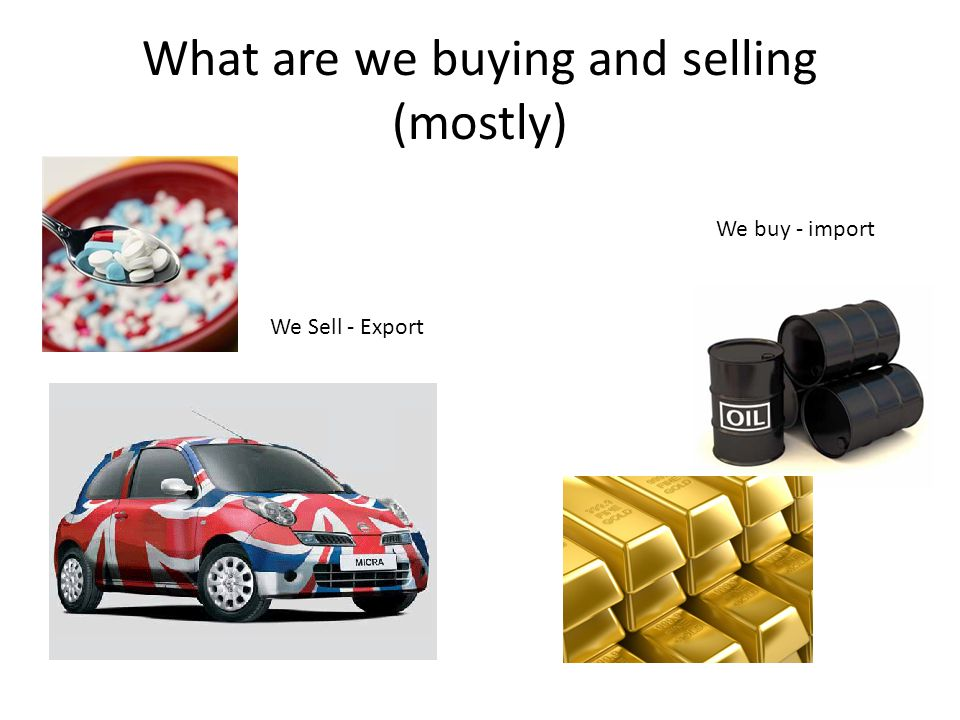 What are we buying and selling (mostly)