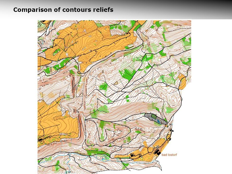 Comparison of contours reliefs