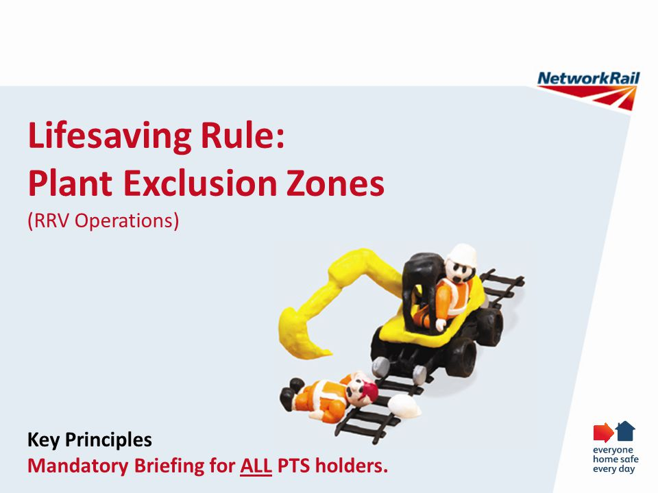 Lifesaving Rule: Plant Exclusion Zones (RRV Operations) Key Principles
