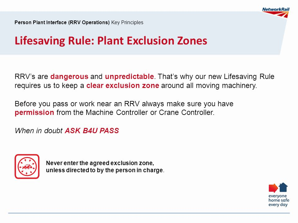 Lifesaving Rule: Plant Exclusion Zones