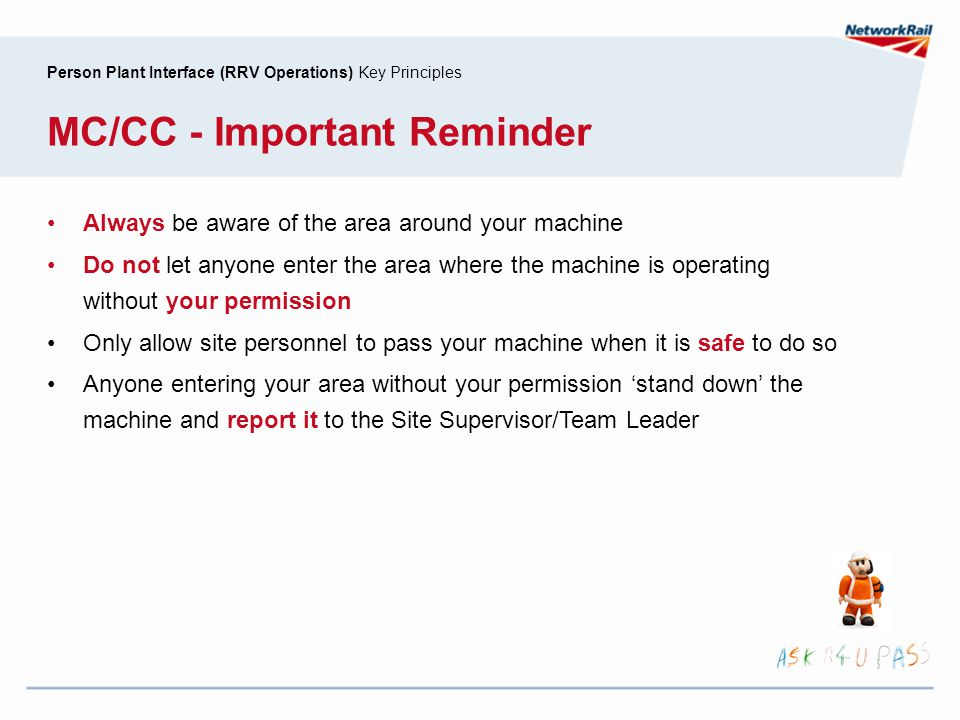 MC/CC - Important Reminder