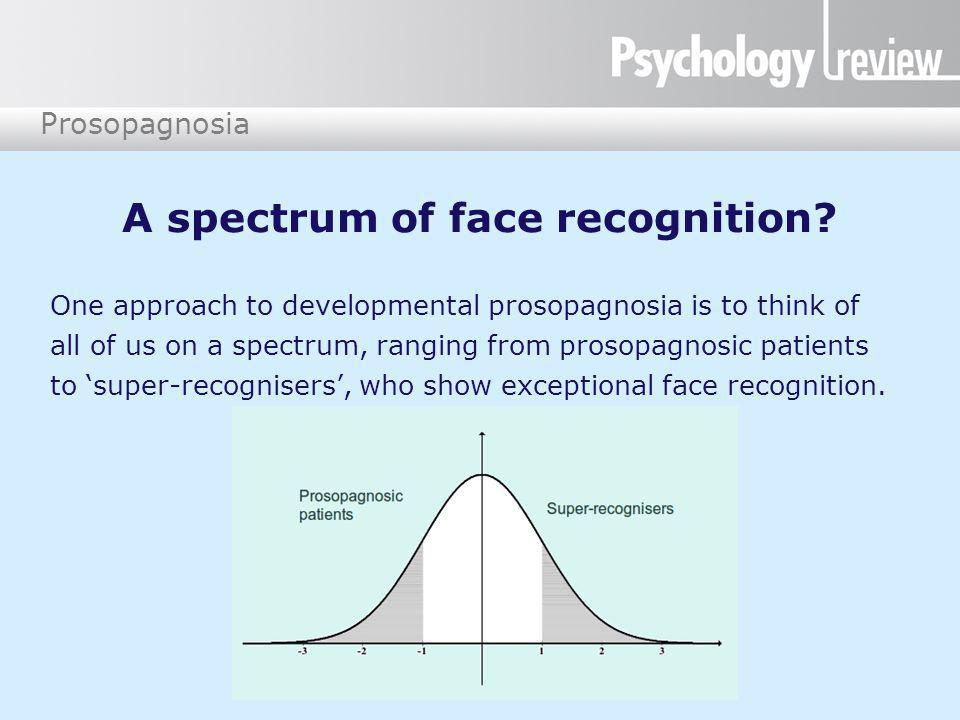 A spectrum of face recognition
