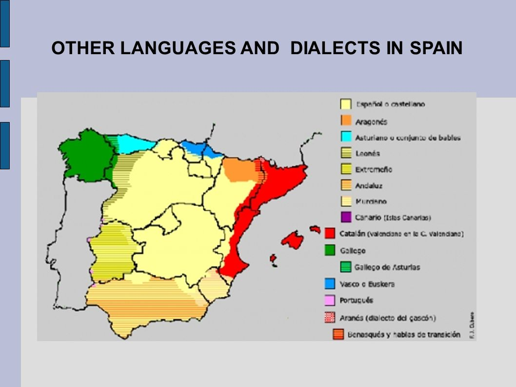 Languages In Spain Map.The Languages Of Spain Ppt Download