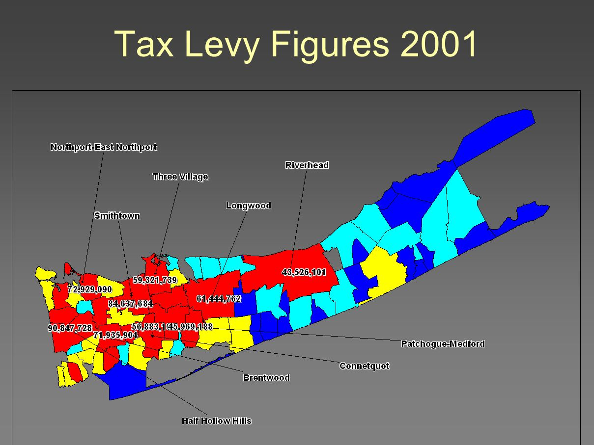 Tax Levy Figures 2001