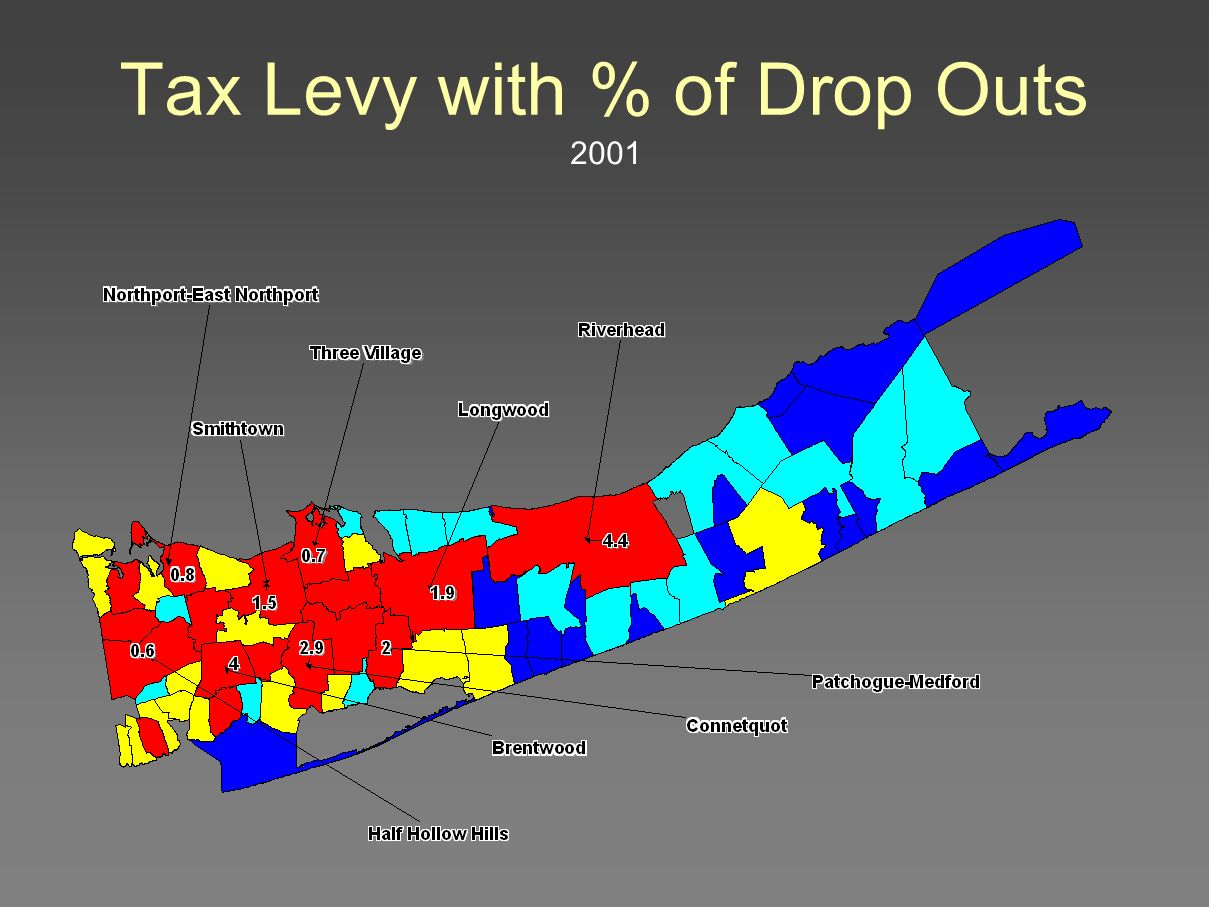 Tax Levy with % of Drop Outs