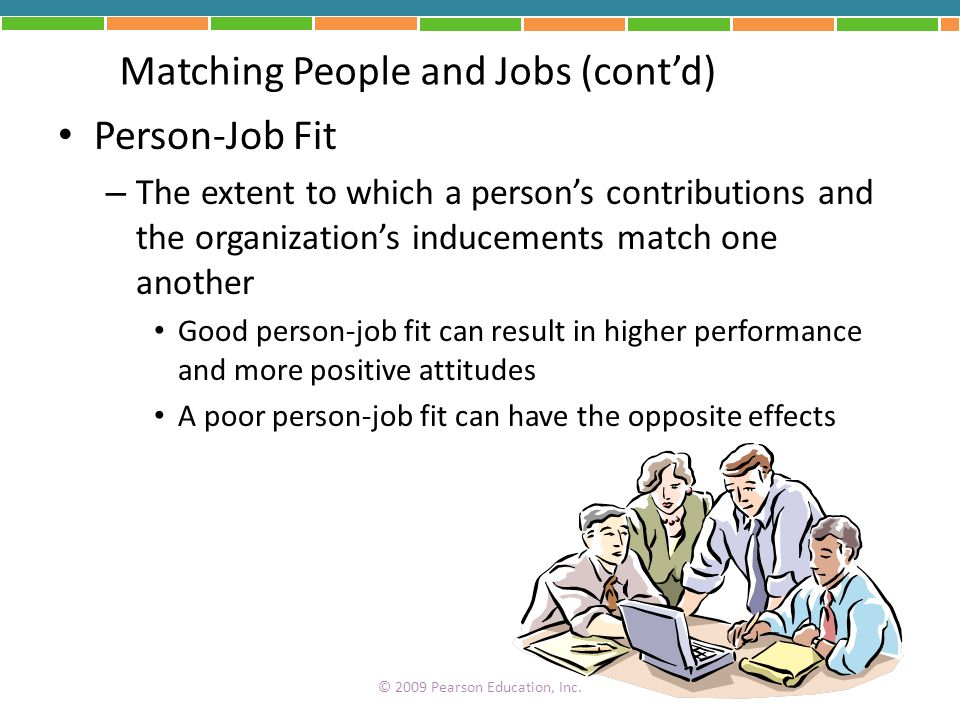 Matching People and Jobs (cont'd)