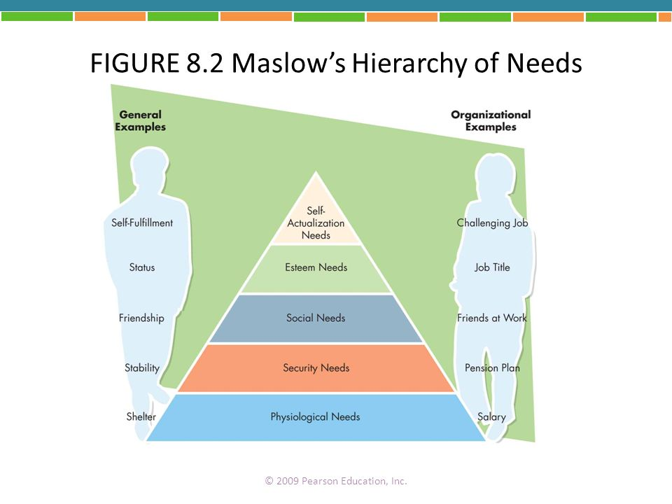 FIGURE 8.2 Maslow's Hierarchy of Needs
