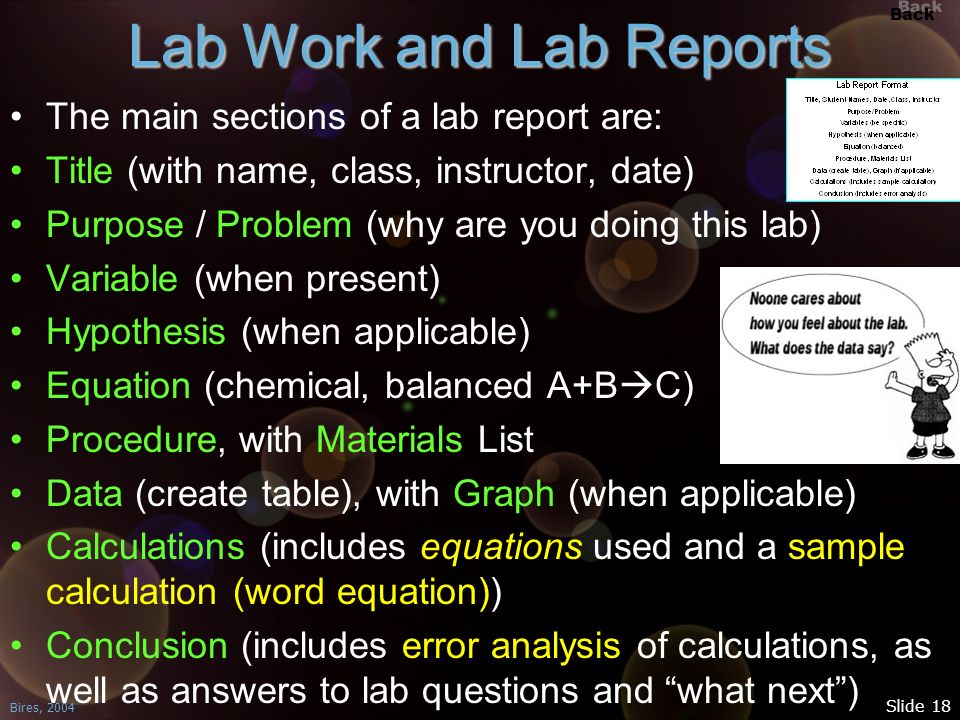 Lab Work and Lab Reports