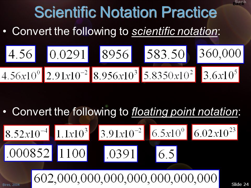 Scientific Notation Practice