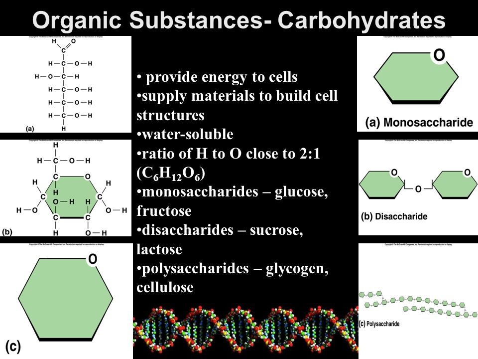 Organic Substances- Carbohydrates