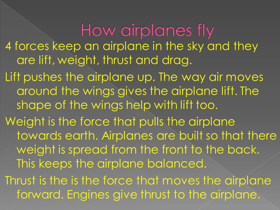 How airplanes fly