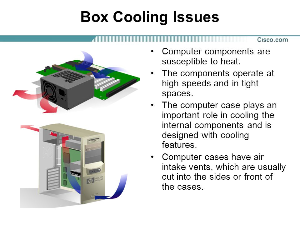 Box Cooling Issues Computer components are susceptible to heat.