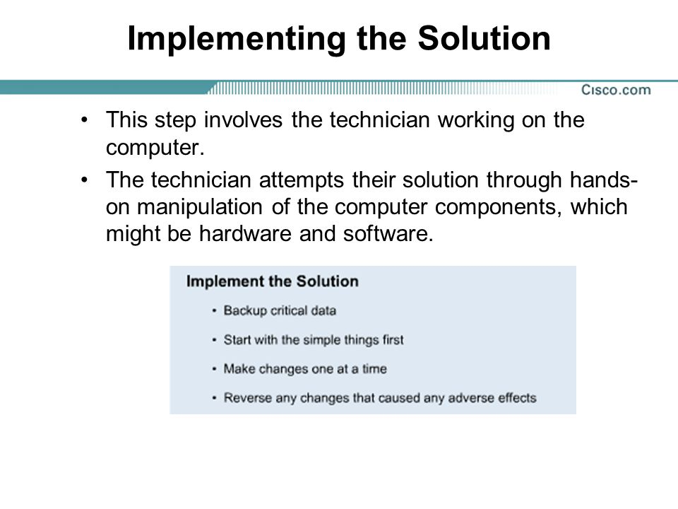 Implementing the Solution