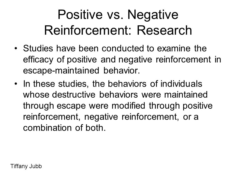 Positive vs. Negative Reinforcement: Research