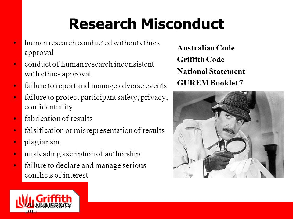 Research Misconduct human research conducted without ethics approval