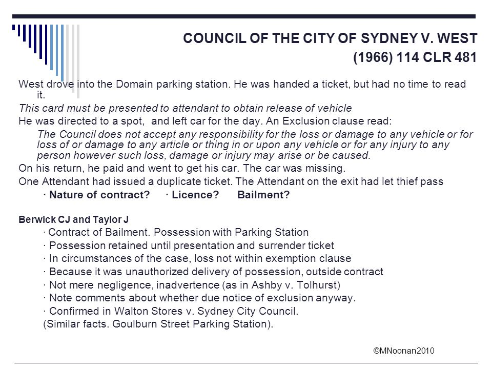 COUNCIL OF THE CITY OF SYDNEY V. WEST (1966) 114 CLR 481