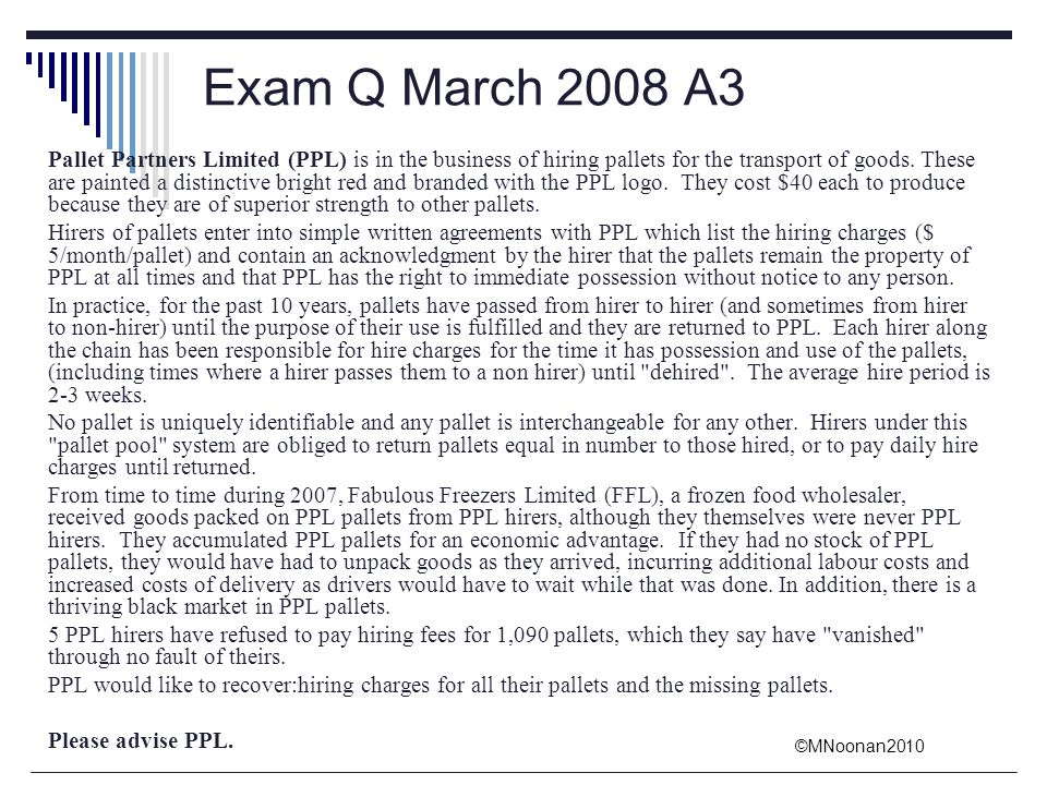 Exam Q March 2008 A3
