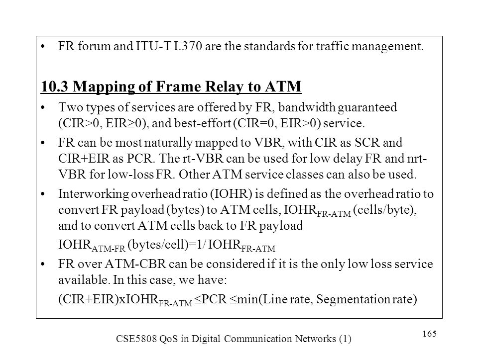 10.3 Mapping of Frame Relay to ATM