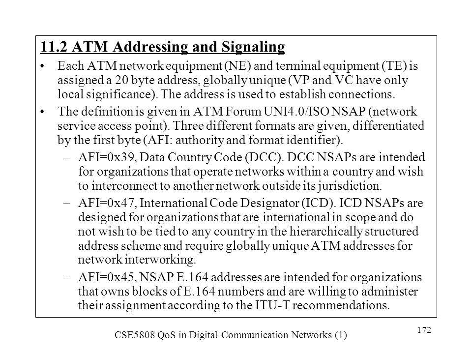 11.2 ATM Addressing and Signaling