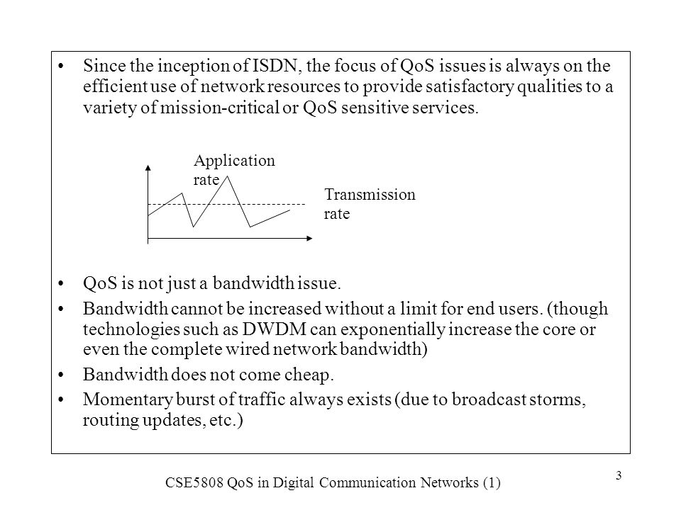 QoS is not just a bandwidth issue.