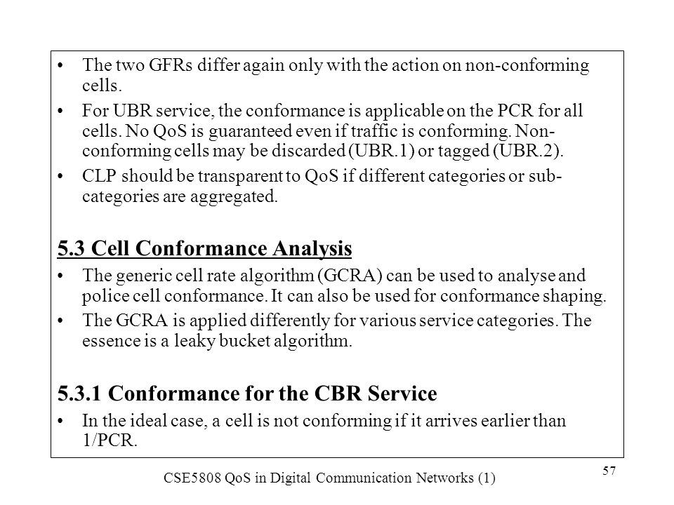 5.3 Cell Conformance Analysis
