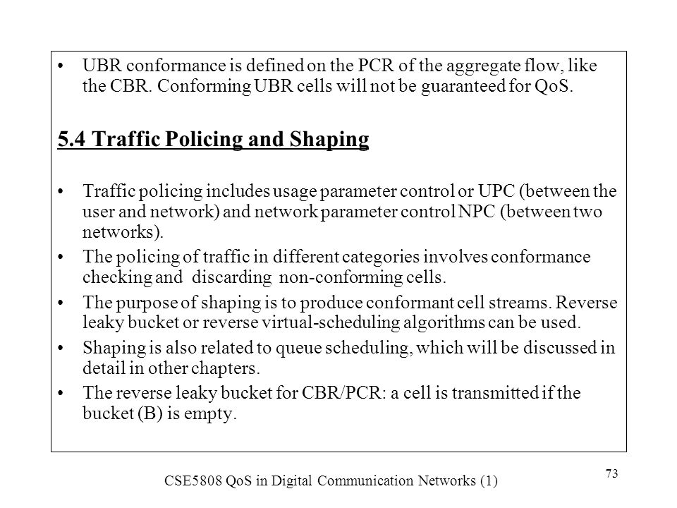 5.4 Traffic Policing and Shaping
