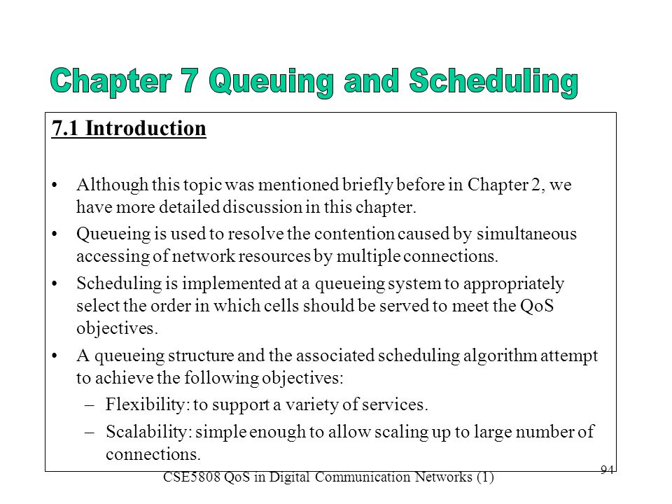 7.1 Introduction Although this topic was mentioned briefly before in Chapter 2, we have more detailed discussion in this chapter.