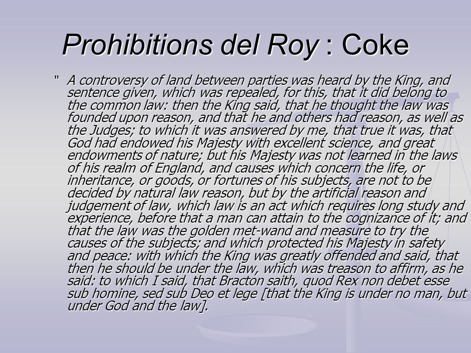 Prohibitions del Roy : Coke