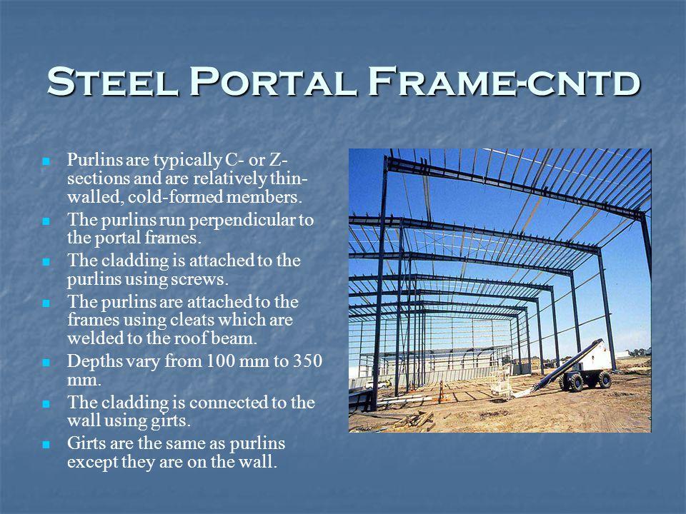 Erection Of Steel Portal Frame For Warehouse Construction