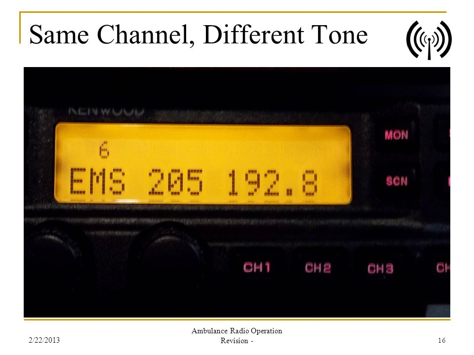 Same Channel, Different Tone