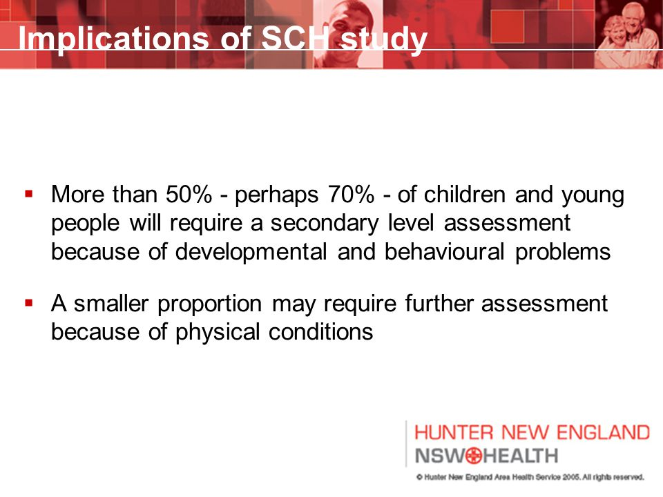 Implications of SCH study