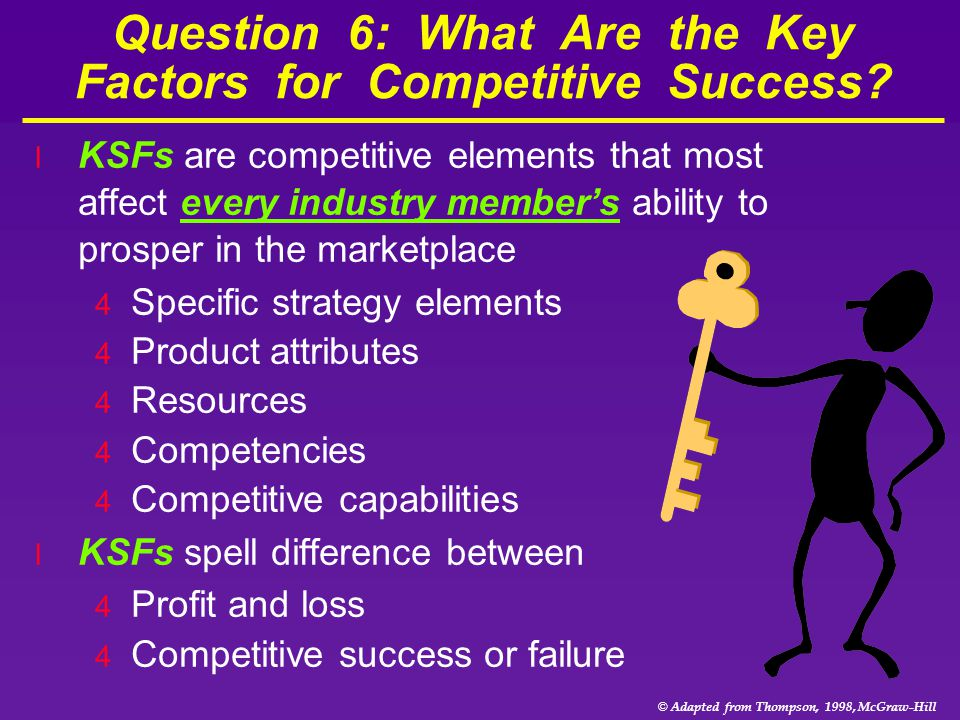Question 6: What Are the Key Factors for Competitive Success