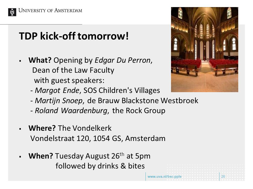 TDP kick-off tomorrow! What Opening by Edgar Du Perron,